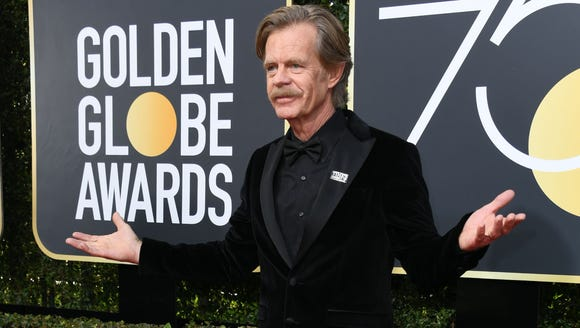 Actor William H. Macy arrives for the 75th Golden Globe
