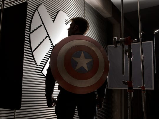 "Captain America (Chris Evans) takes down Hydra (and S.H.I.E.L.D.) in ""Captain America: The Winter Soldier."""
