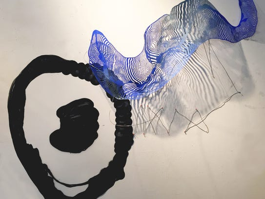'Black and Blue Bloop' is a work by Justine Ditto.