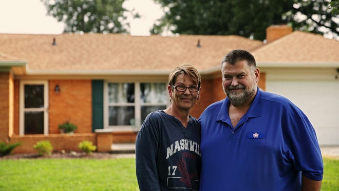 Sandy and Jeff Morgan put an offer on their new home in Greenfield and then put their old house on the market, selling it in five days.