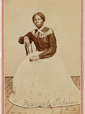 FILE - This undated file photo provided by Swan Auction Galleries shows a photograph of 19th century abolitionist Harriet Tubman. Swann Galleries is offering the circa late 1860s image for sale in New York during their auction of books, other printed material and photos from the slavery and abolition eras on Thursday, March 30, 2017.