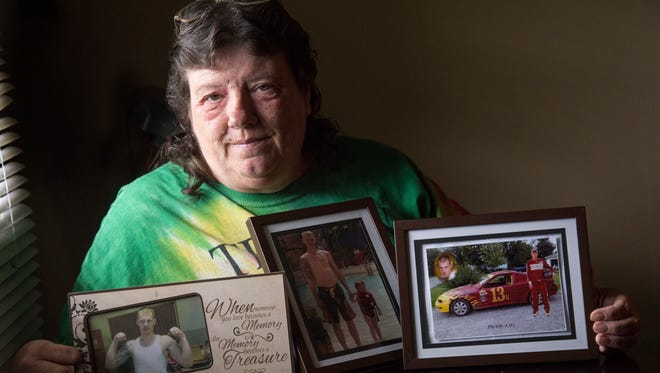 Jerrie Servedio's son, Randall Whicker, died of a drug overdose this past December. Whicker had overdosed more than two dozen times during his 15-year addiction to heroin.