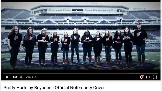 The ladies of James Madison University's Note-oriety have thrown an unbelievable new song into the mix.