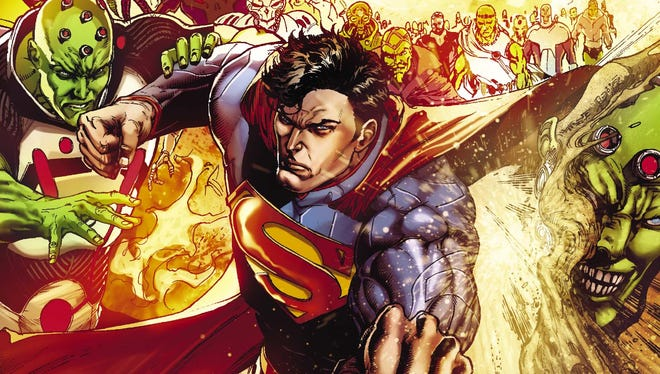 """Superman faces his old for Brainiac in the zero-issue opener of DC Comics' """"Convergence."""""""