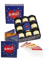 """Penzeys Spices often offers sales and promotions for items in protest to policies and actions by the Trump administration. Pictured here is an """"American Heart & Soul"""" gift box of spices with the website description that some of the blends """"are testaments to the ever-renewing role immigration continues to play in seasoning the American spirit."""""""