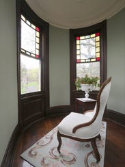 One of the turret rooms in this 1887 historic home on North Broadway in Nyack.