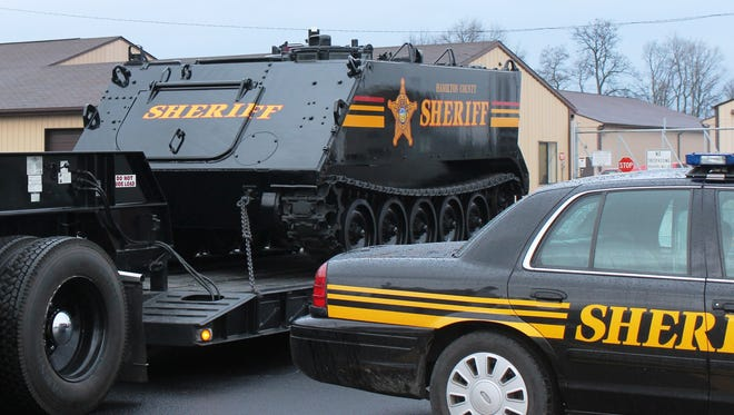 """""""The Tank"""" was transferred to the Jackson County Sheriff's office on Wednesday, according to Hamilton County Sheriff Jim Neil."""