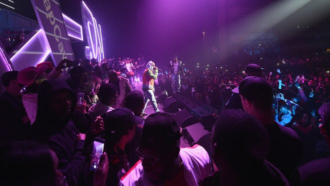 Cam'ron performs at Spotify's RapCaviar Live in New York on Nov. 21, 2017.