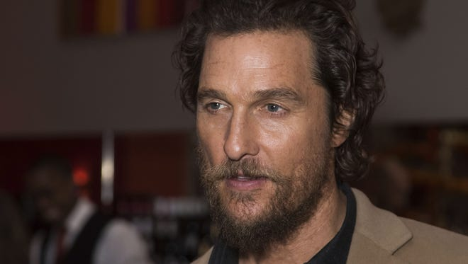 Matthew McConaughey says its time for Hollywood to accept reality when it comes to the presidency.