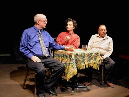 Scott Brocato, left, Joseluis Solorzano and David Arias
