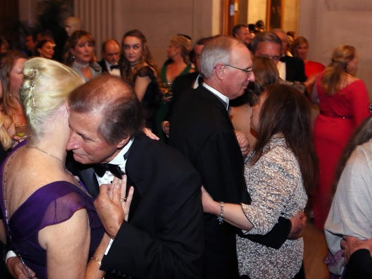 Attendees dance during A Tennessee Waltz at the State