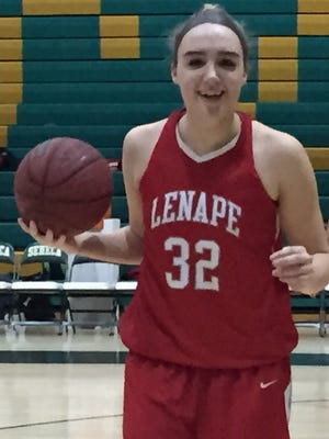 Lenape senior Maddie Sims scored her 1,000th point in the first game of the season this year.
