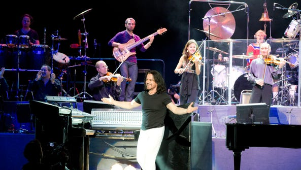 Greek composer and musician Yanni brings his 15-member