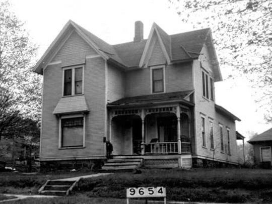 An undated photo from Willard Library of the house