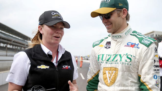 The IndyCar Series teams of Sarah Fisher (left) and Ed Carpenter were together in 2015, but the ownership structure has changed.