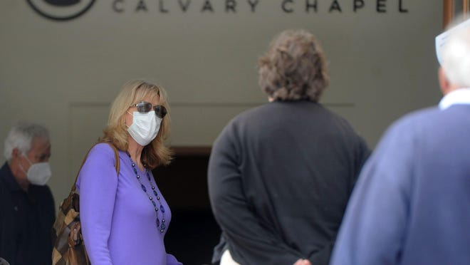 Godspeak Calvary Chapel in Newbury Park, which for weeks has held indoor worship in defiance of anti-coronavirus health orders, must close its doors, a judge ruled Friday.
