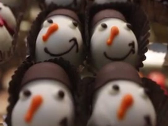 Festive treats fill the display cases at Allo Chocolat