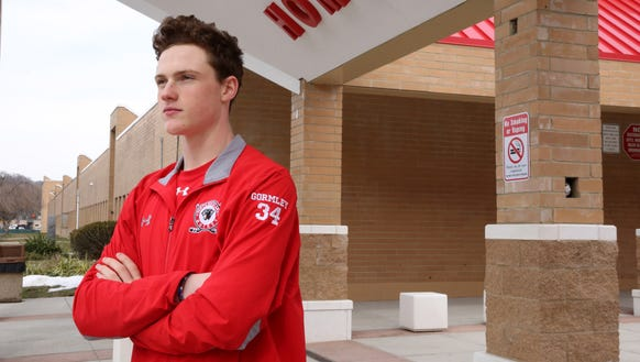 TJN hockey player of the year John Gormley was photographed