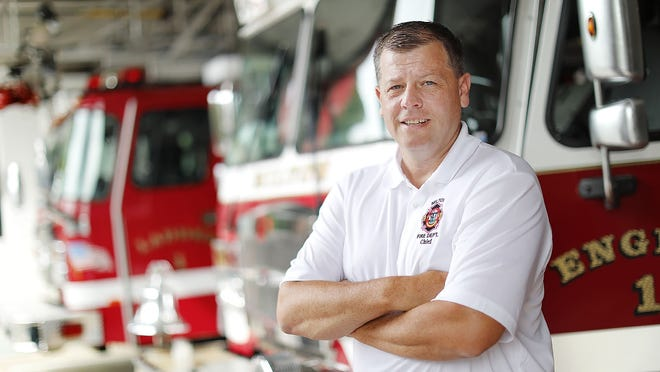 Christopher Madden is Milton's fire chief. (Greg Derr/The Patriot Ledger