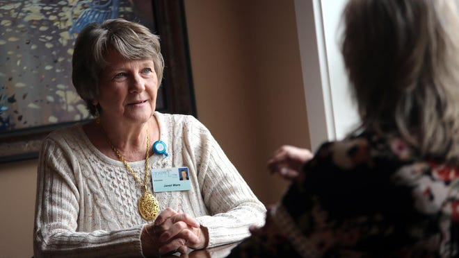 Janet Ware has volunteered with Hospice of Cleveland County five years. The organization relies on a fleet of employees and volunteers to serve families.