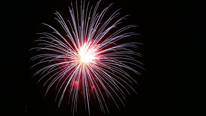 Fireworks light up the sky over Shelby City Park in this Star file photo.