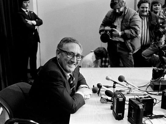 Former Secretary of State Henry Kissinger answers questions