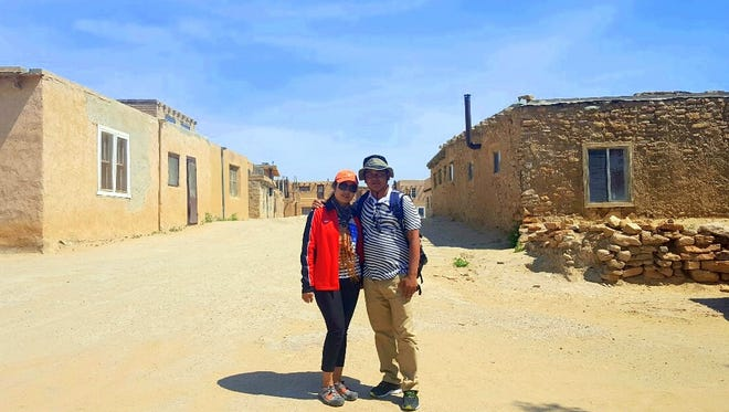 Kim and Kao Virak viewed pueblo lifestyle at Acoma.