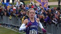 Cornell College junior Abrah Masterson, at the conclusion of Saturday's race