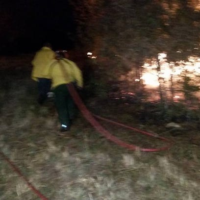 30-acre Dickson County brush fire starts with debris burn