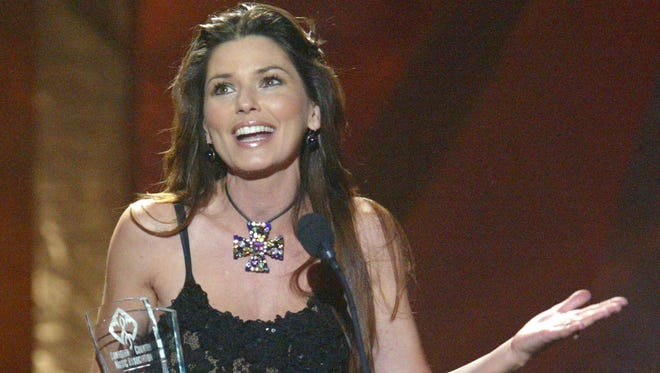 Shania Twain, seen at the 2003 Canadian Country Music Awards in Calgary, Alberta, will be a headliner at the Stagecoach festival in April