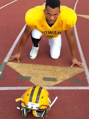 Rowan junior running back Dior Hightower of Paul VI is a two-sport college athlete.