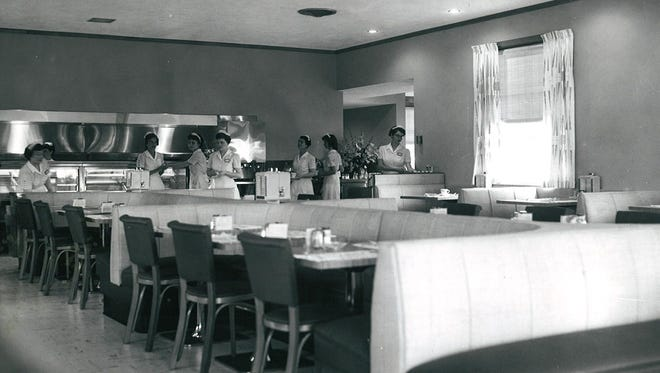 Interior of Bill Knapp's restaurant, June 15, 1955.