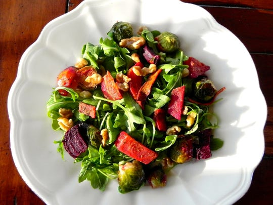 Roasted Brussel Sprouts and Winter Beets