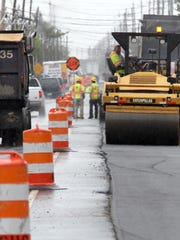 New pavement is being put down along Route 35 north