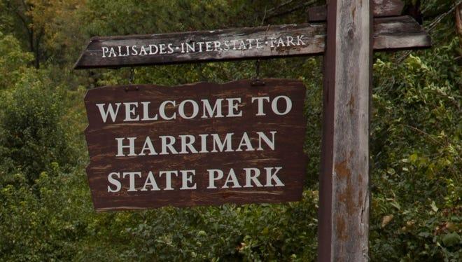 Harriman State Park entrance sign, Aug. 28, 2011.