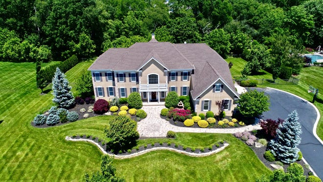 An aerial of 7 Summer Drive in Freehold.