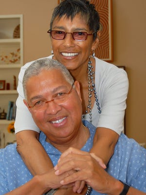 FAMU graduates Bernard and Shirley Kinsey.on Saturday, Nov. 19, pledged $500,000 to support The Marching 100.