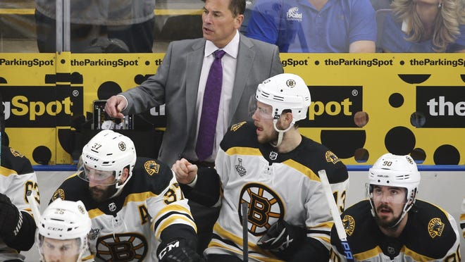 Bruins head coach Bruce Cassidy, shouting out instructions during a   Stanley Cup playoff game against the Blues last year, understands if a player chooses not to play this season because of coronavirus concerns.