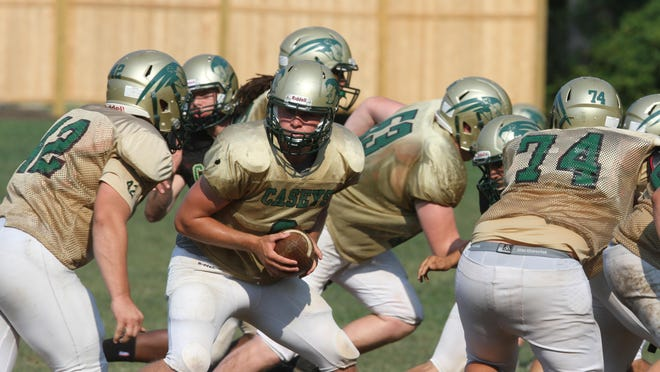 Red Bank Catholic works out at practice this summer in Shrewsbury.