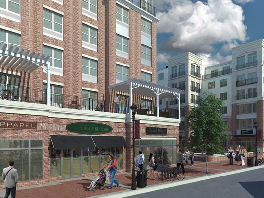 An architectural rendering of the proposed Stagecoach at Flemington development on the site of the Union Hotel.