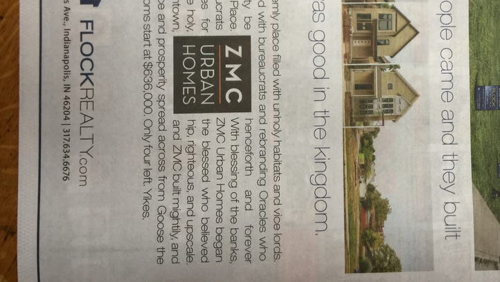 Flock Realty runs an offensive ad in the Urban Times.