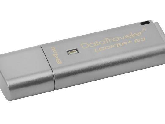 The DataTraveler Locker+ G3 is a metal USB flash drive