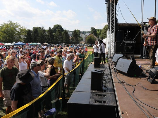 David Lowrey and Cracker perform on the Main Stage at the Pleasantville Music Festival at Parkway Field in Pleasantville on Saturday, July 14, 2018.