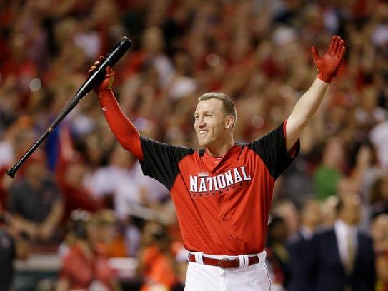 National League's Todd Frazier, of the Cincinnati Reds,