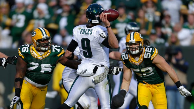 Eagles quarterback Nick Foles was 12-of-18 for 228 yards and three touchdowns last year against the Packers.