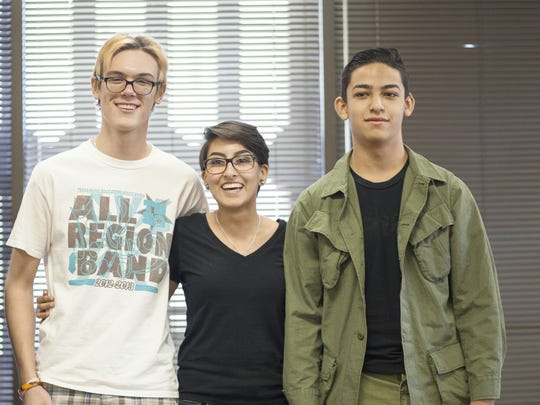 Robert Garland, left to right, Amber Cortez and Tommy Torres.