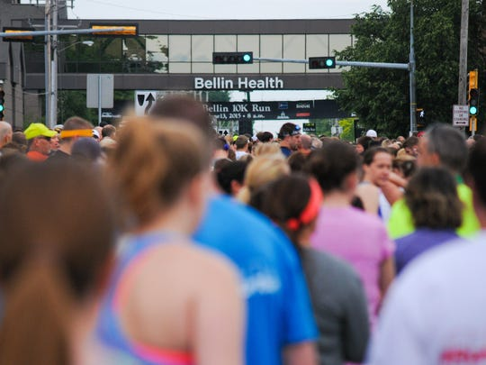 A scene from the 39th annual Bellin Run.