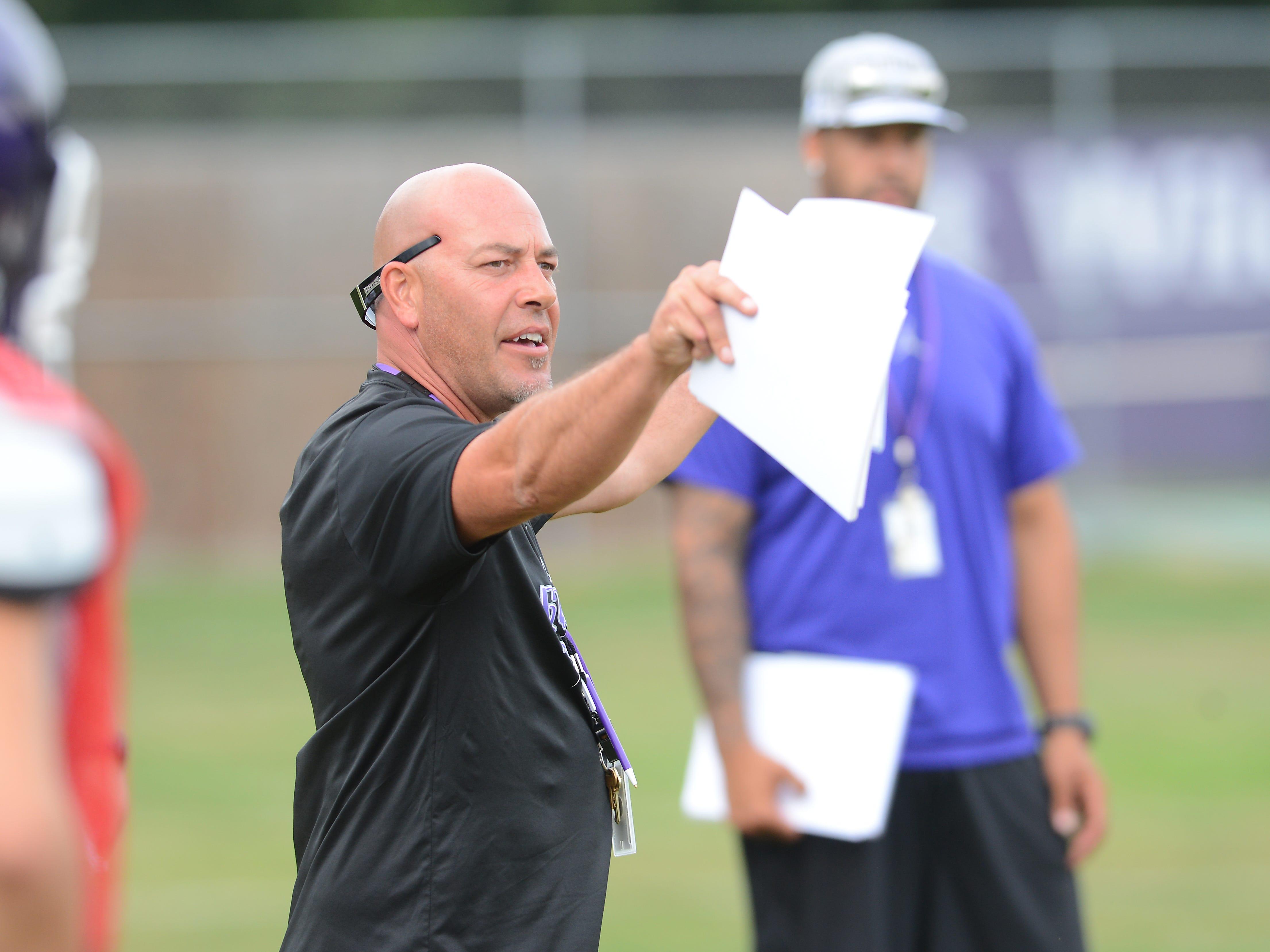 Green Bay West High School head football coach Jeff Behrendt.