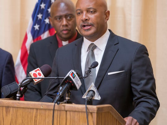 Curtis Hill, Indiana Attorney General, during an event
