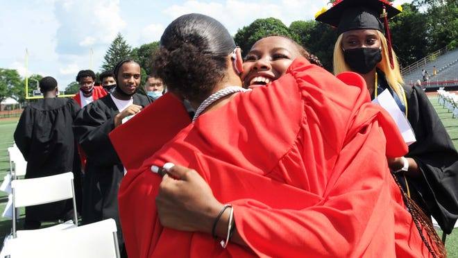 Brockton High School held its 154th graduation exercises at Marciano Stadium on Saturday, July 25, 2020.